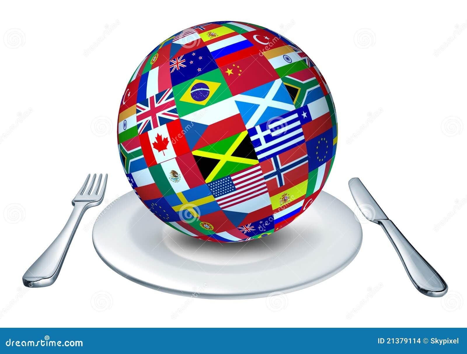 Cucina del mondo illustrazione di stock. Illustrazione di bandierine ...