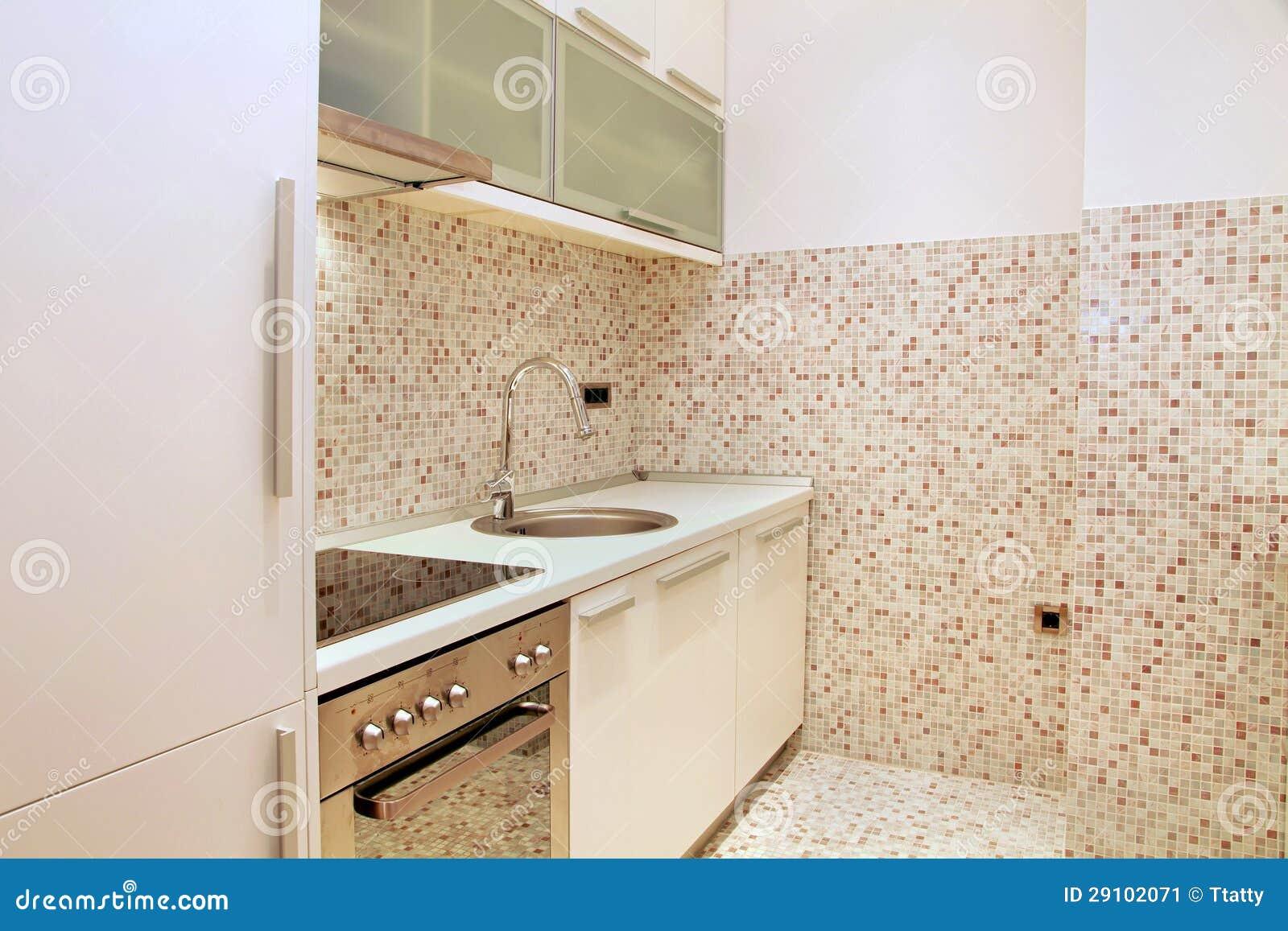 Cucina delle mattonelle di mosaico immagine stock for Mattonelle adesive per cucina