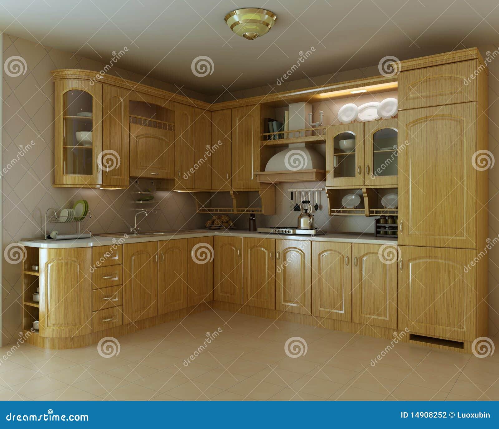 Cucina di lusso classica illustrazione di stock - Cucina di lusso ...