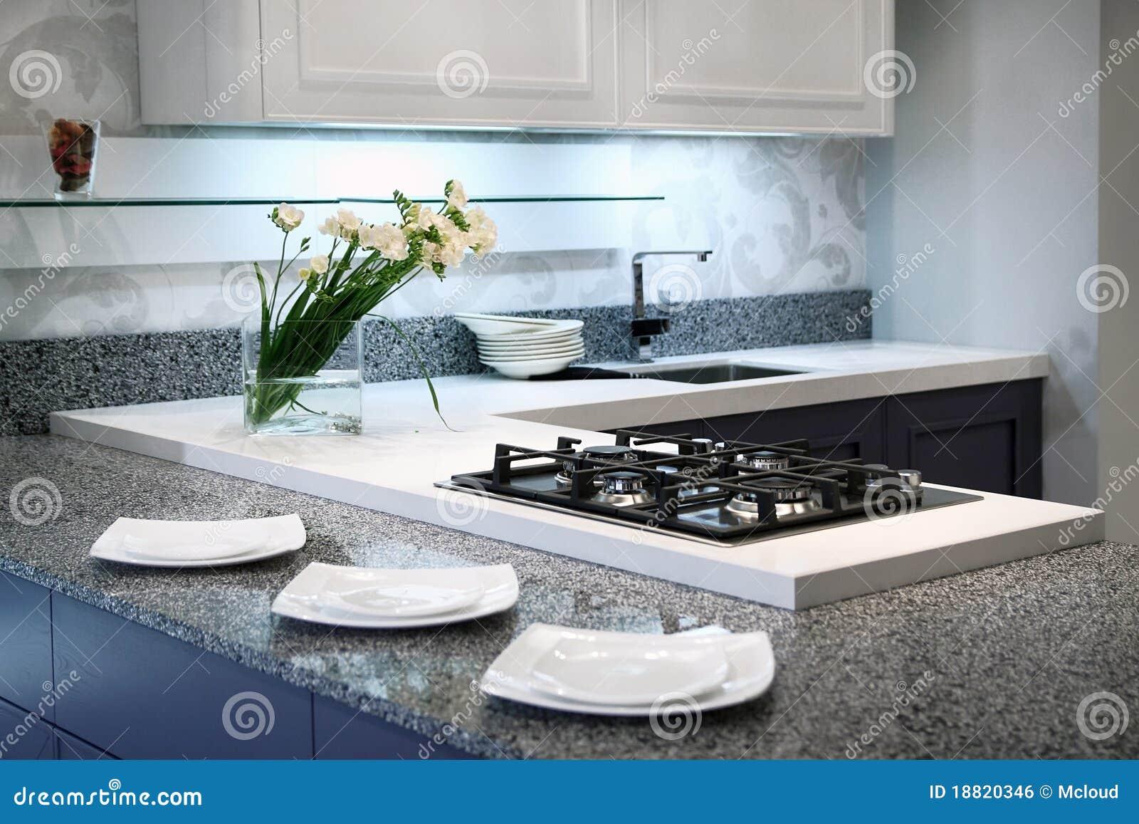Cucina Di Stile Contemporaneo Fotografia Stock - Immagine di ...