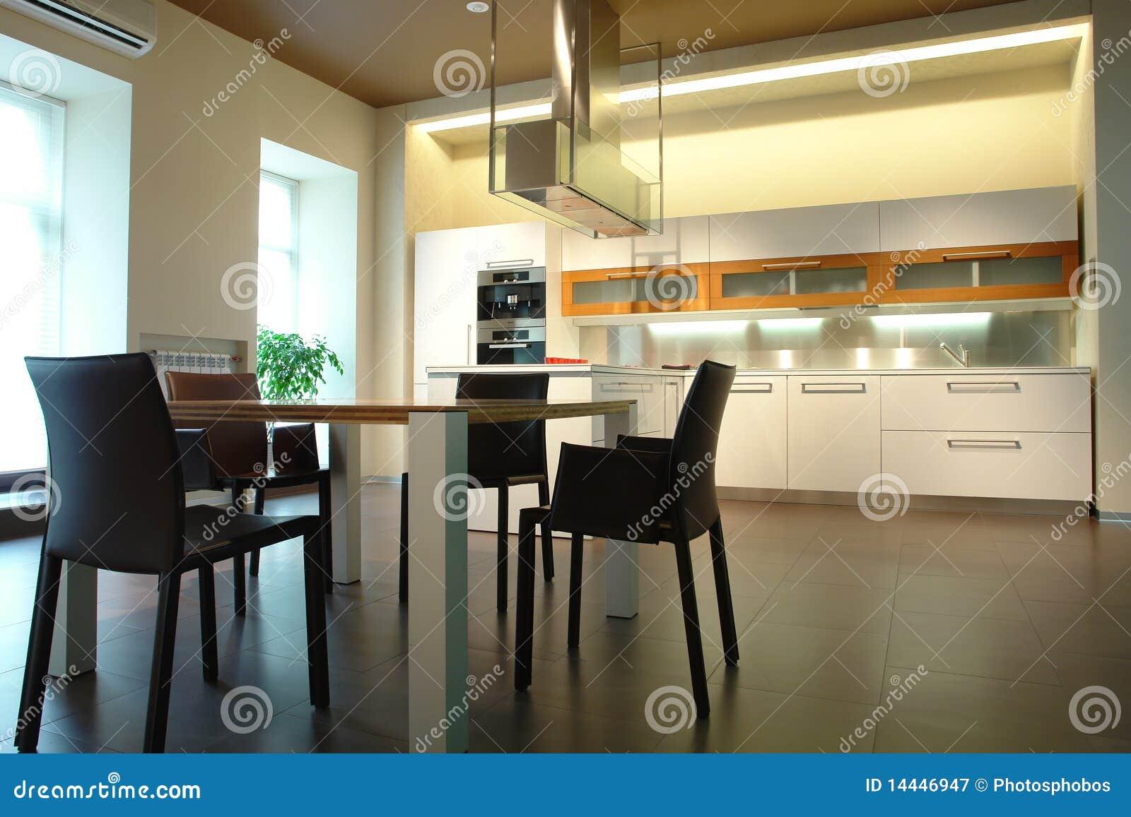 Cucina e sala da pranzo immagine stock. Immagine di ...
