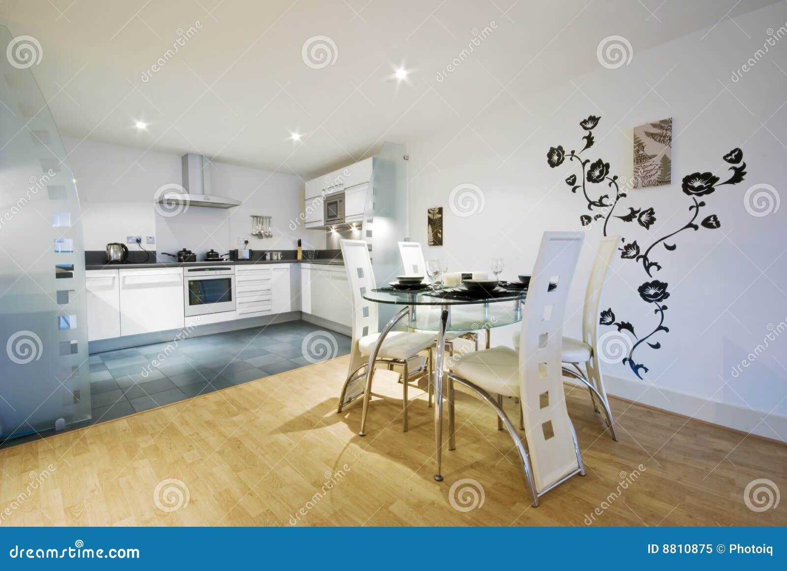 Cucina E Sala Da Pranzo Del Progettista Immagine Stock