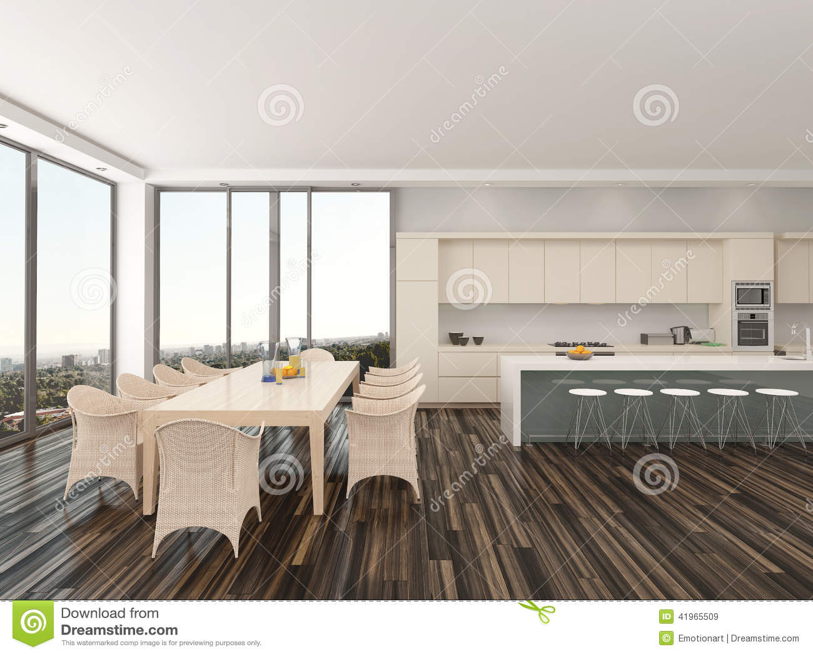 Cucina e sala da pranzo raffinate di aperto piano for Cucina con sala da pranzo