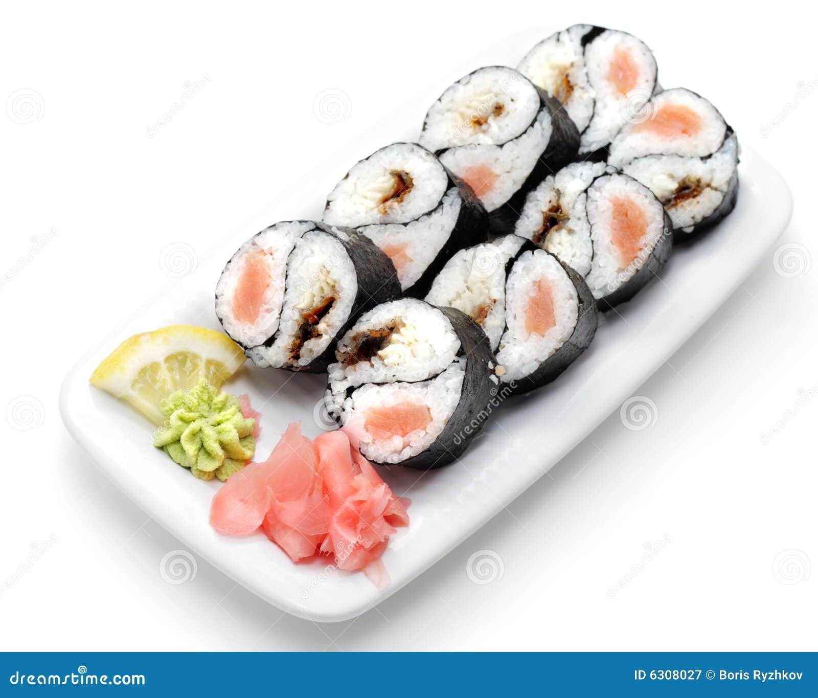 Cucina giapponese rolls yin yang fotografia stock libera for Cucine giapponesi