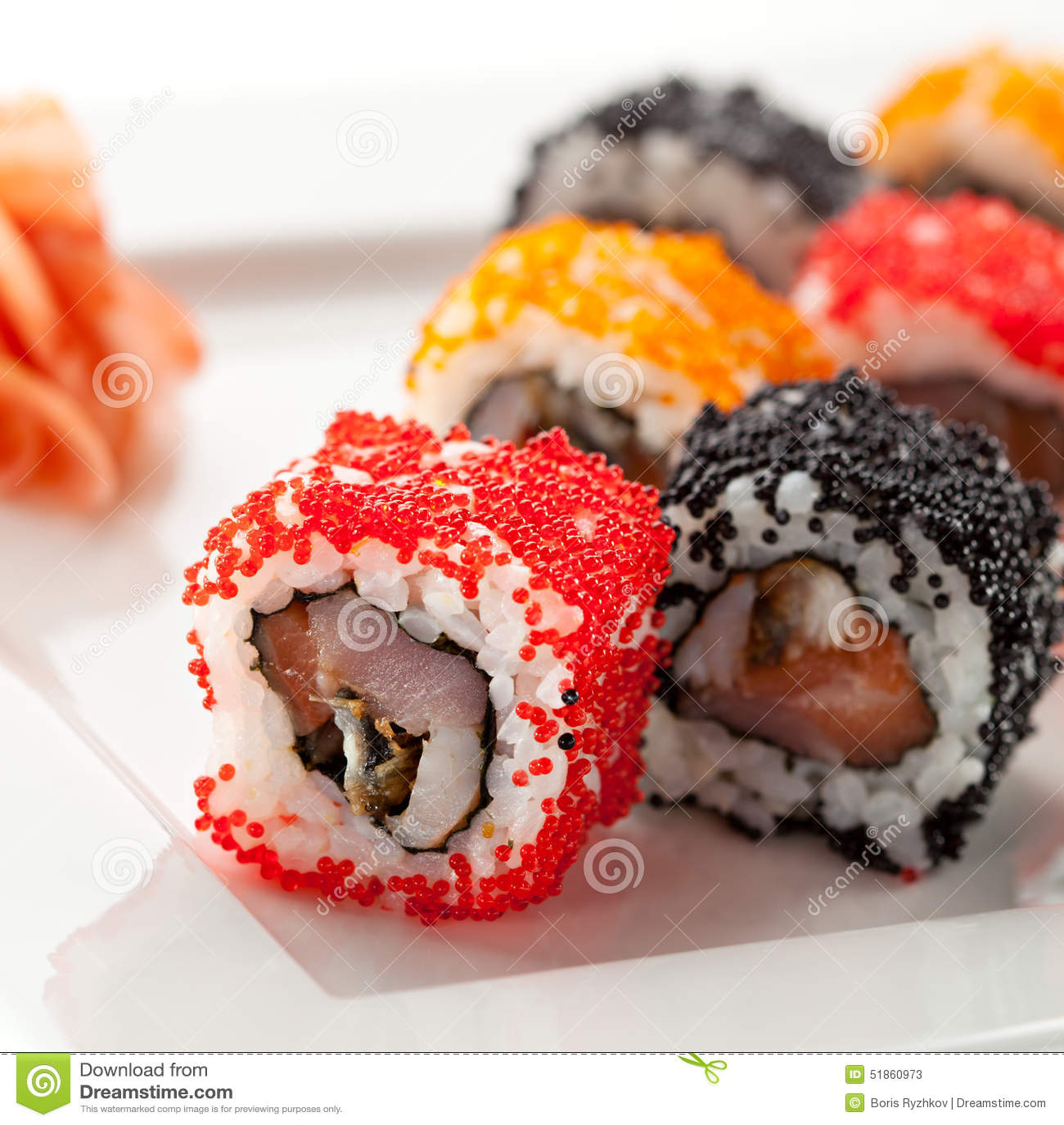 Cucina Giapponese Sushi Immagine Stock Immagine Di Squisitezza