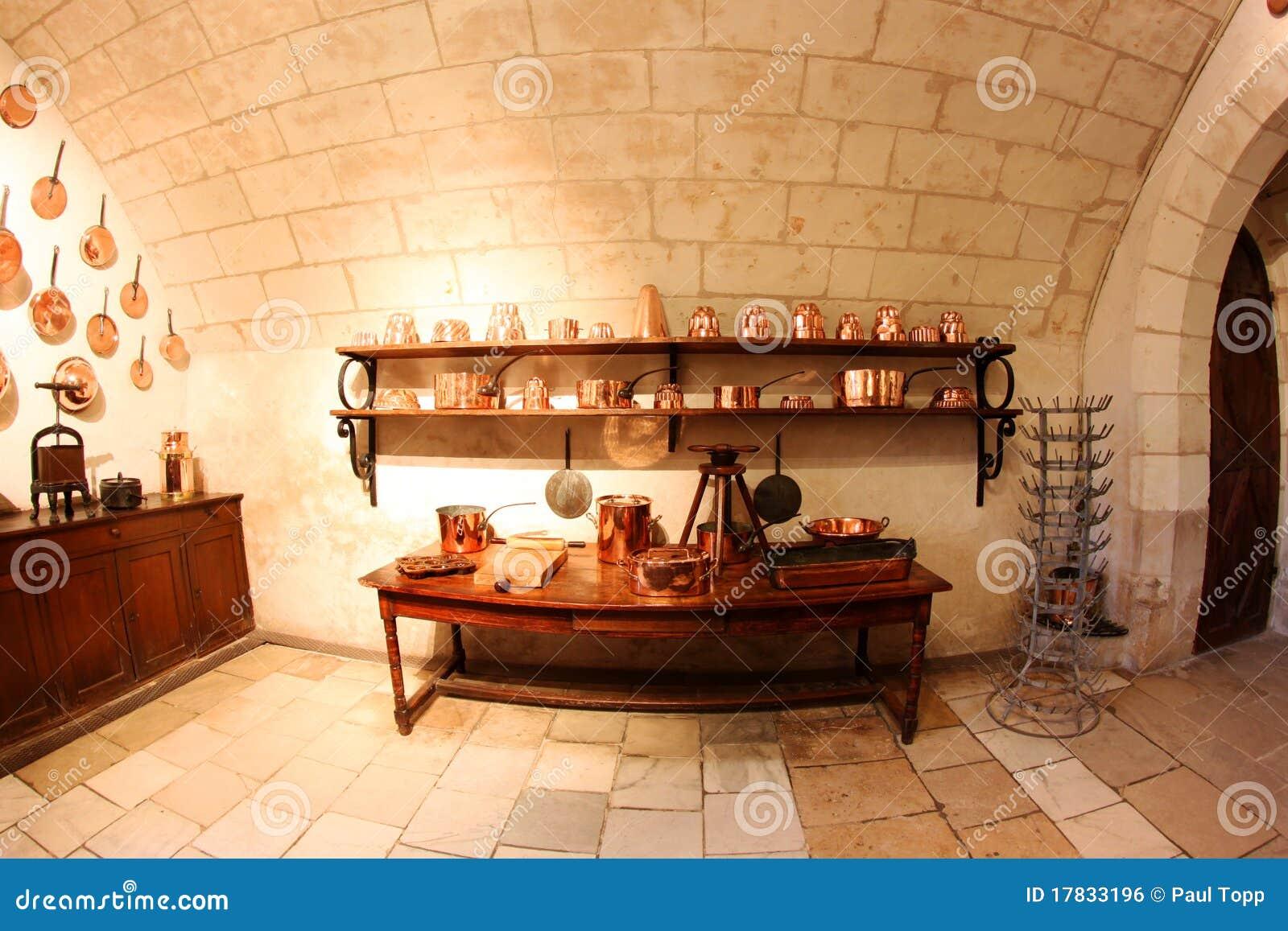 Cucina Medioevale Al Castello Di Chenonceau In Francia Fotografia ...