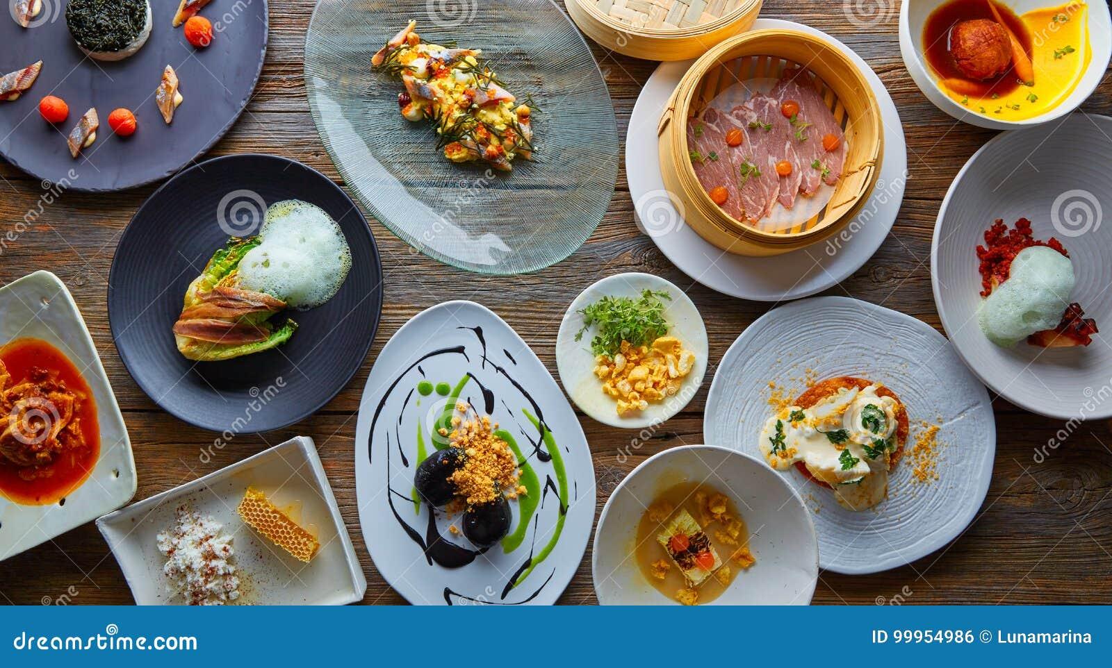 Cucina moderna di ricette molecolari della gastronomie fotografia
