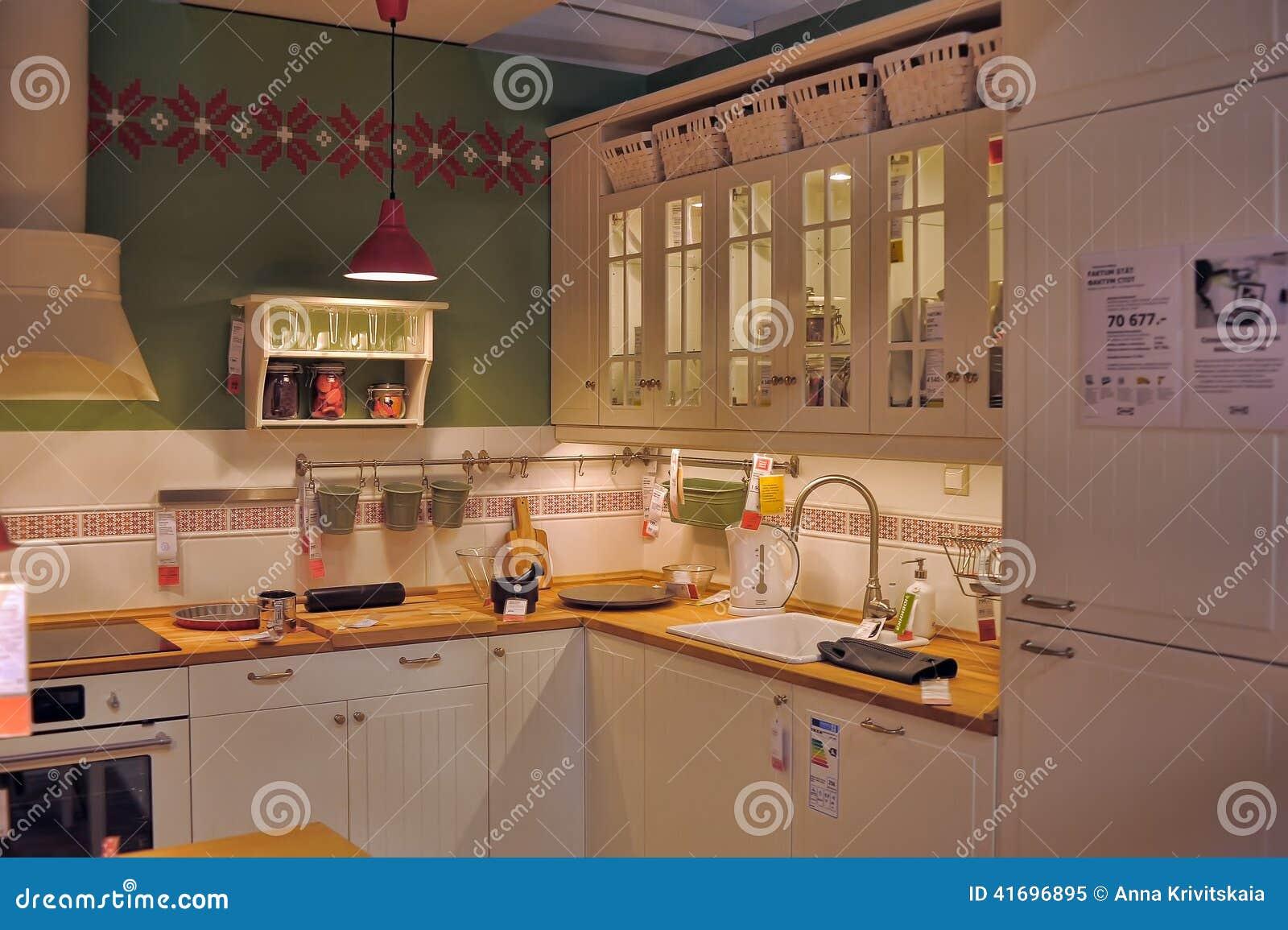 Cucina In Negozio Di Mobili Ikea Immagine Editoriale ...