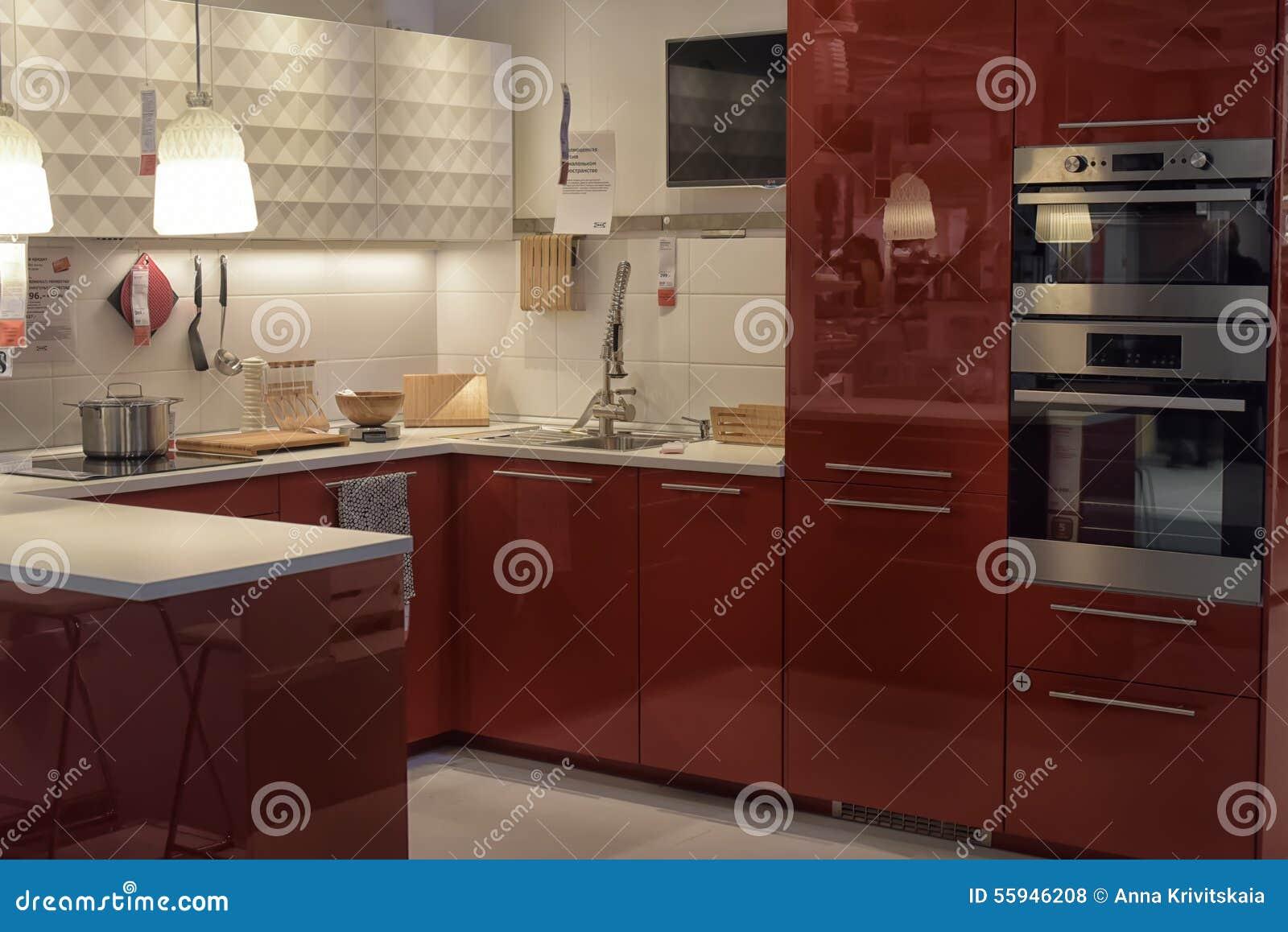 Cucina In Negozio Di Mobili Ikea Fotografia Stock Editoriale ...