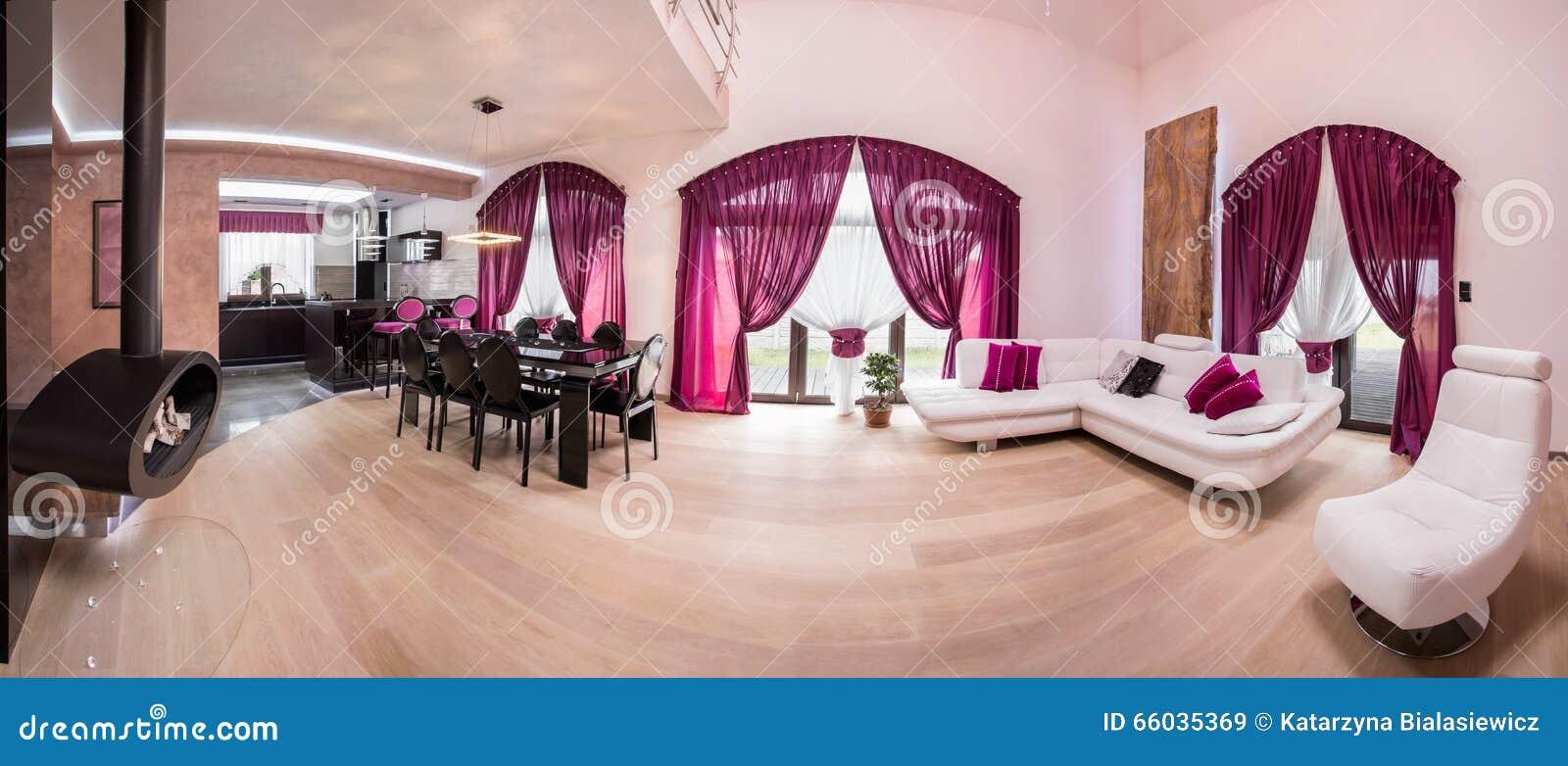Cucina, Sala Da Pranzo E Salotto Immagine Stock - Immagine di seduta ...