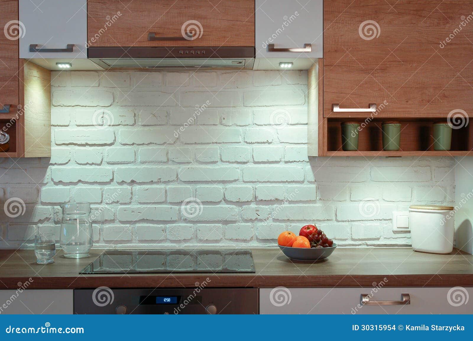 Cucina vuota fotografia stock. Immagine di vuoto, nero - 30315954