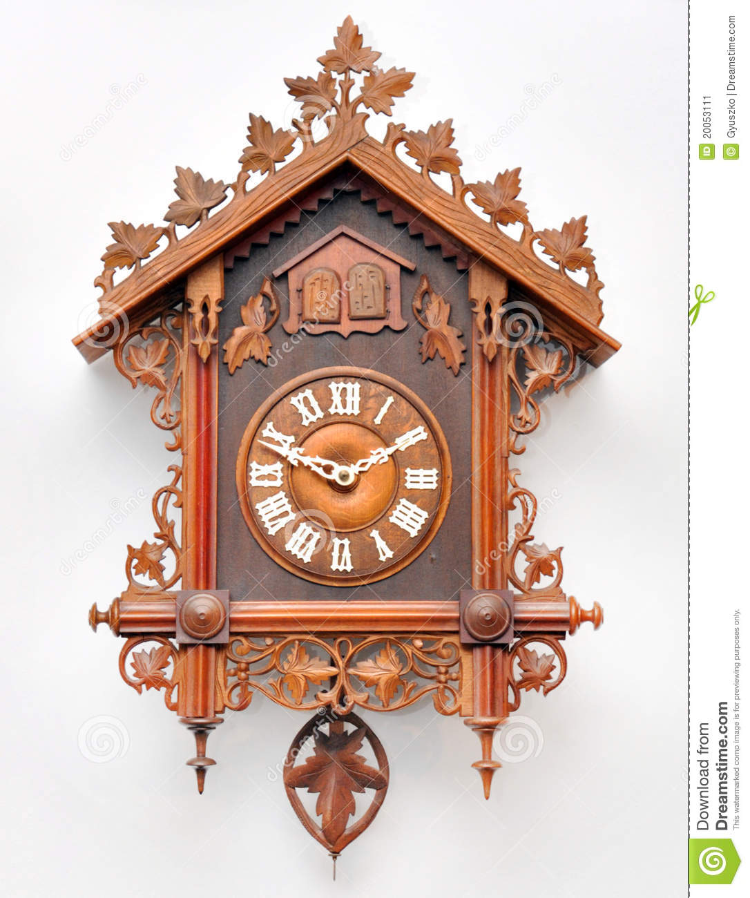 Cuckoo clock color flat icon isolated on a white background vector illustration cartoondealer - Colorful cuckoo clock ...