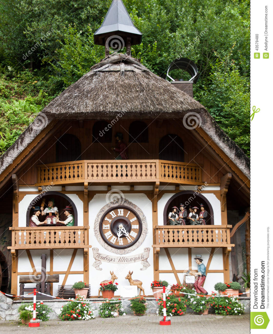 Download Cuckoo Clock House In Hornberg Stock Photo - Image of europe, black: 43579480