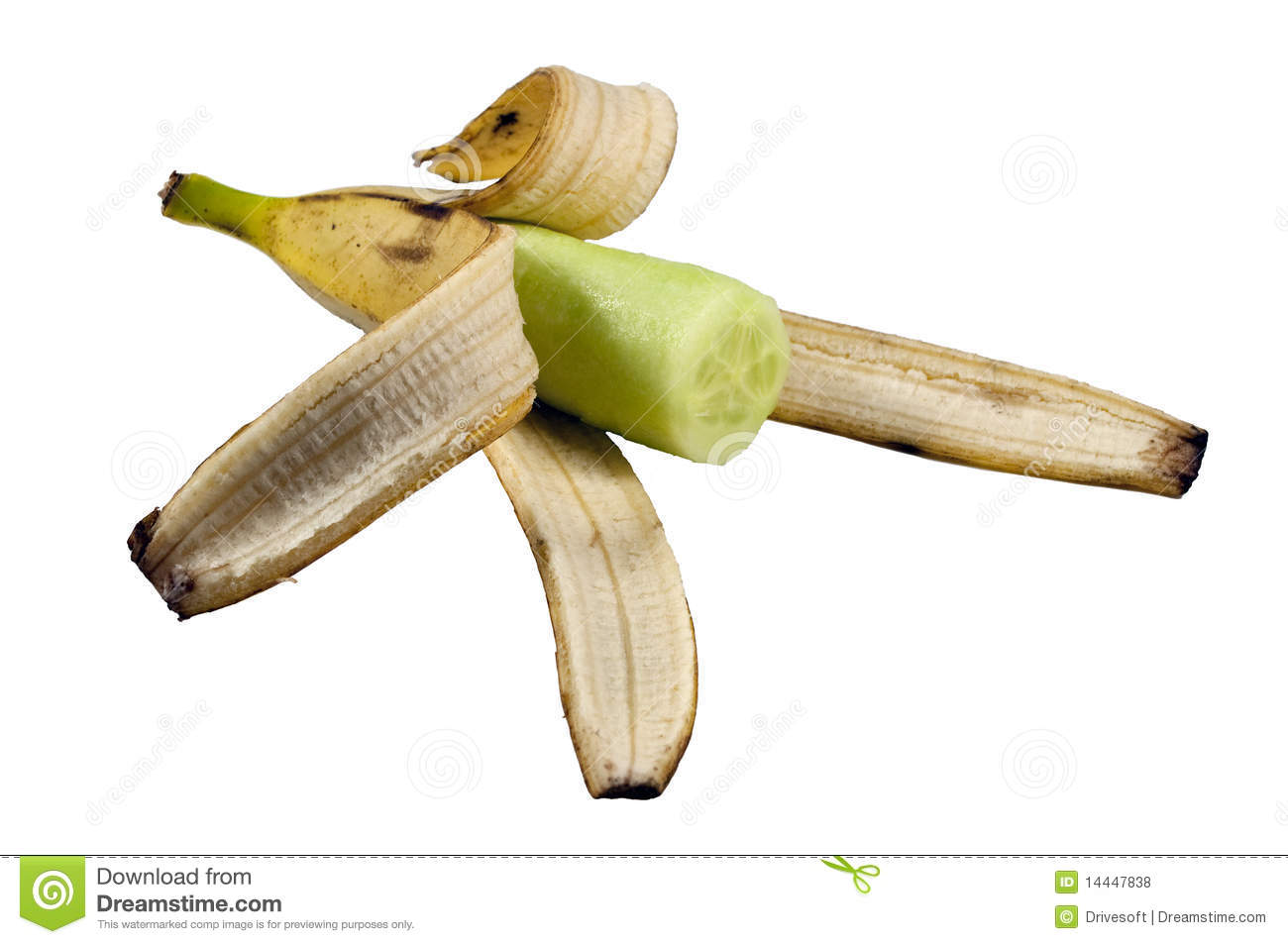 The cucumber the banana or maybe his dick 6