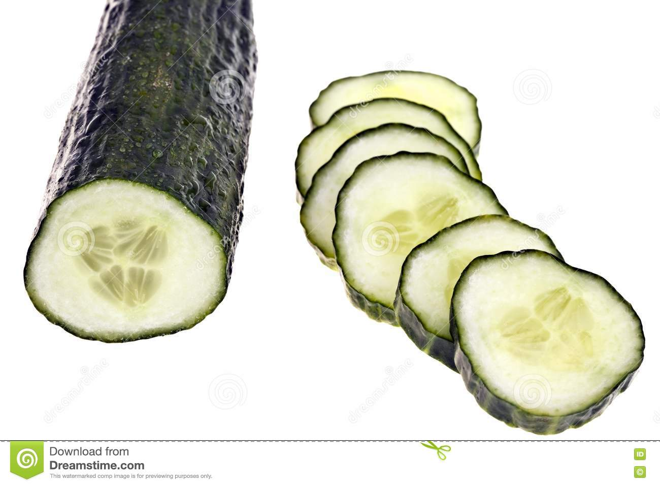 Cucumber - Completely Isolated Royalty Free Stock Image - Image ...: dreamstime.com/royalty-free-stock-image-cucumber-completely...