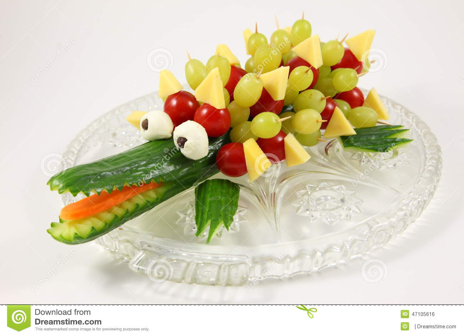 Cucumber Crocodile Stock Photo Image 47105616