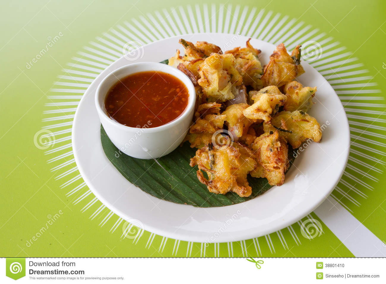 Cucur Udang Prawn Fritters, a Malaysian dish.