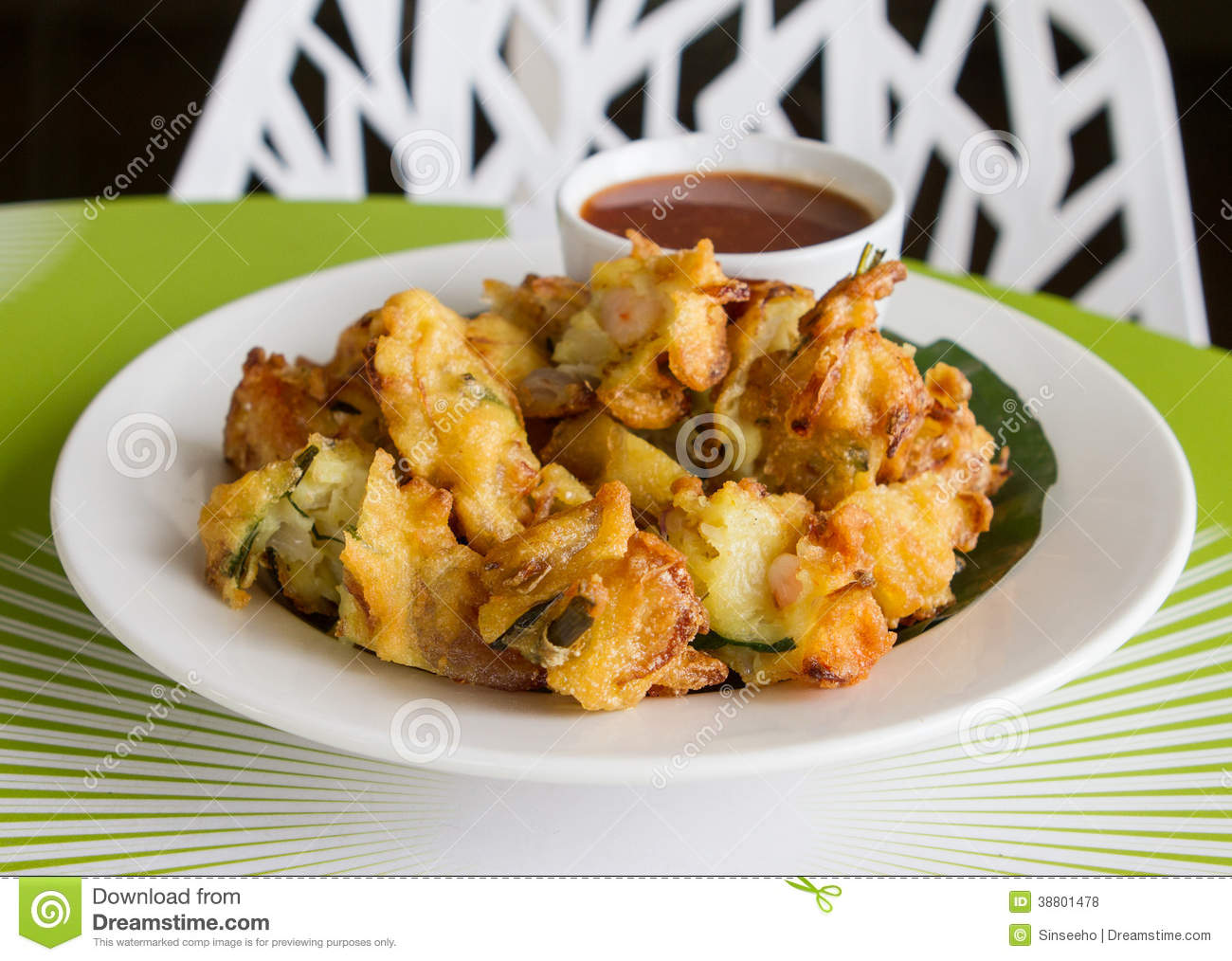 Cucur Udang Prawn Fritters Stock Photo - Image: 38801478