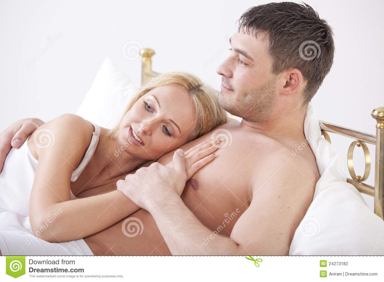 Cuddling couple in bed Stock Photography. Husband Wife Cuddling Bed Stock Photos  Images    Pictures   242