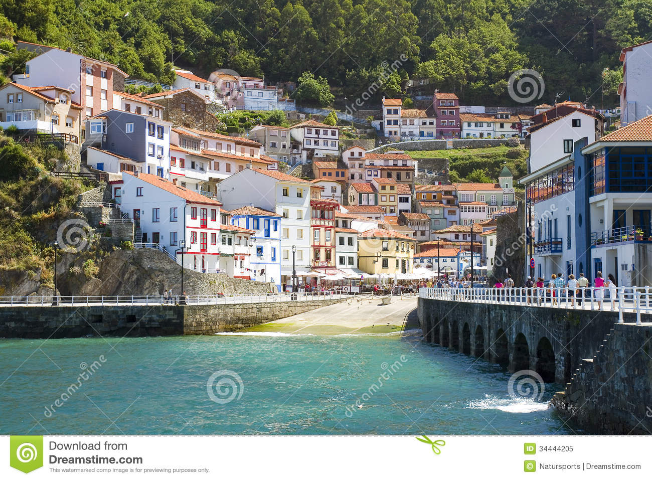 Cudillero Spain Editorial Image Image Of Colorful Homes 34444205