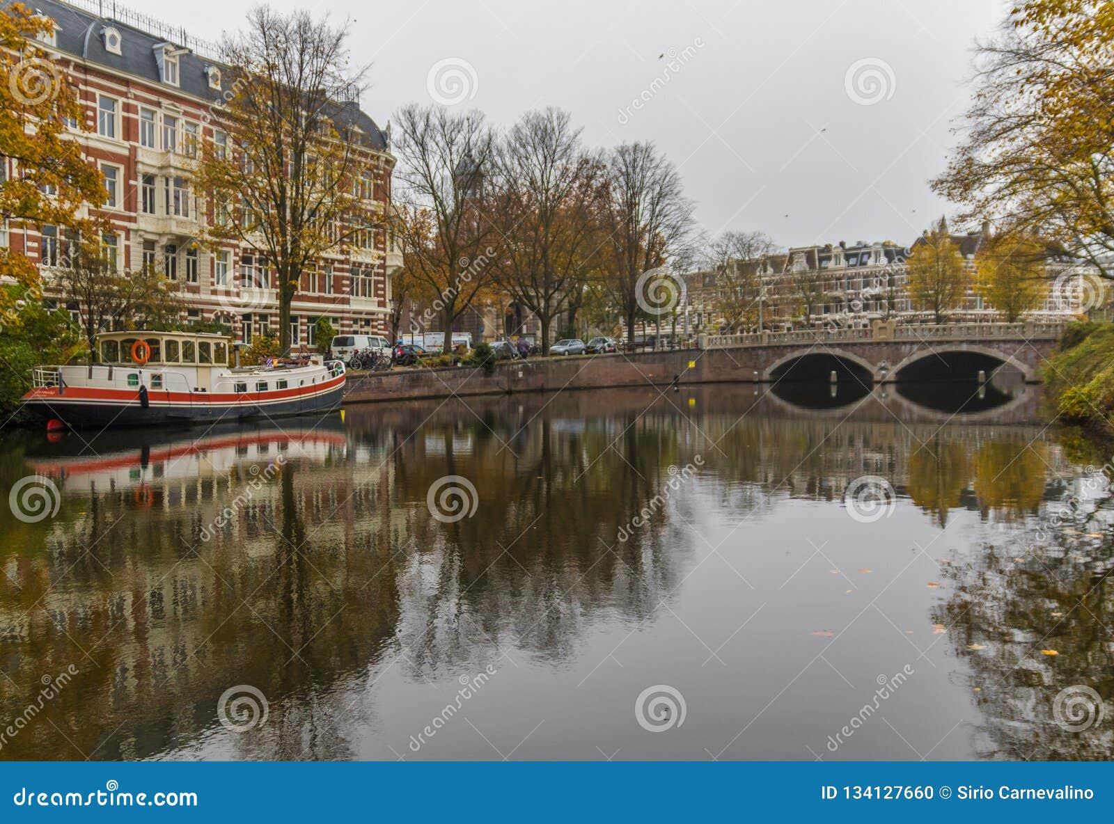 Cudowny Stary miasteczko Amsterdam, Netherland