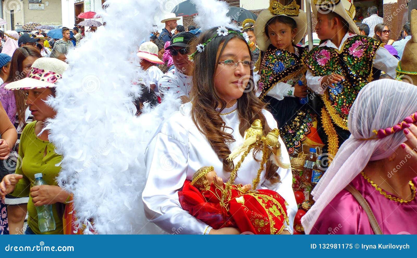 Cuenca, Equador Parada Paseo del Nino no Natal