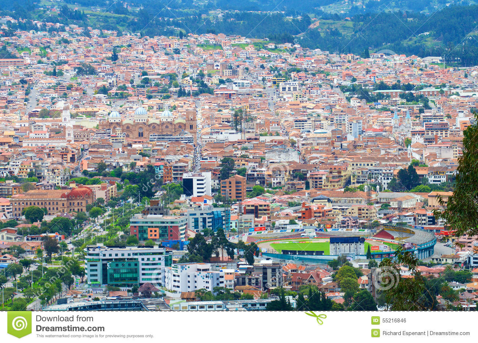 Cuenca-Stadt Ansicht
