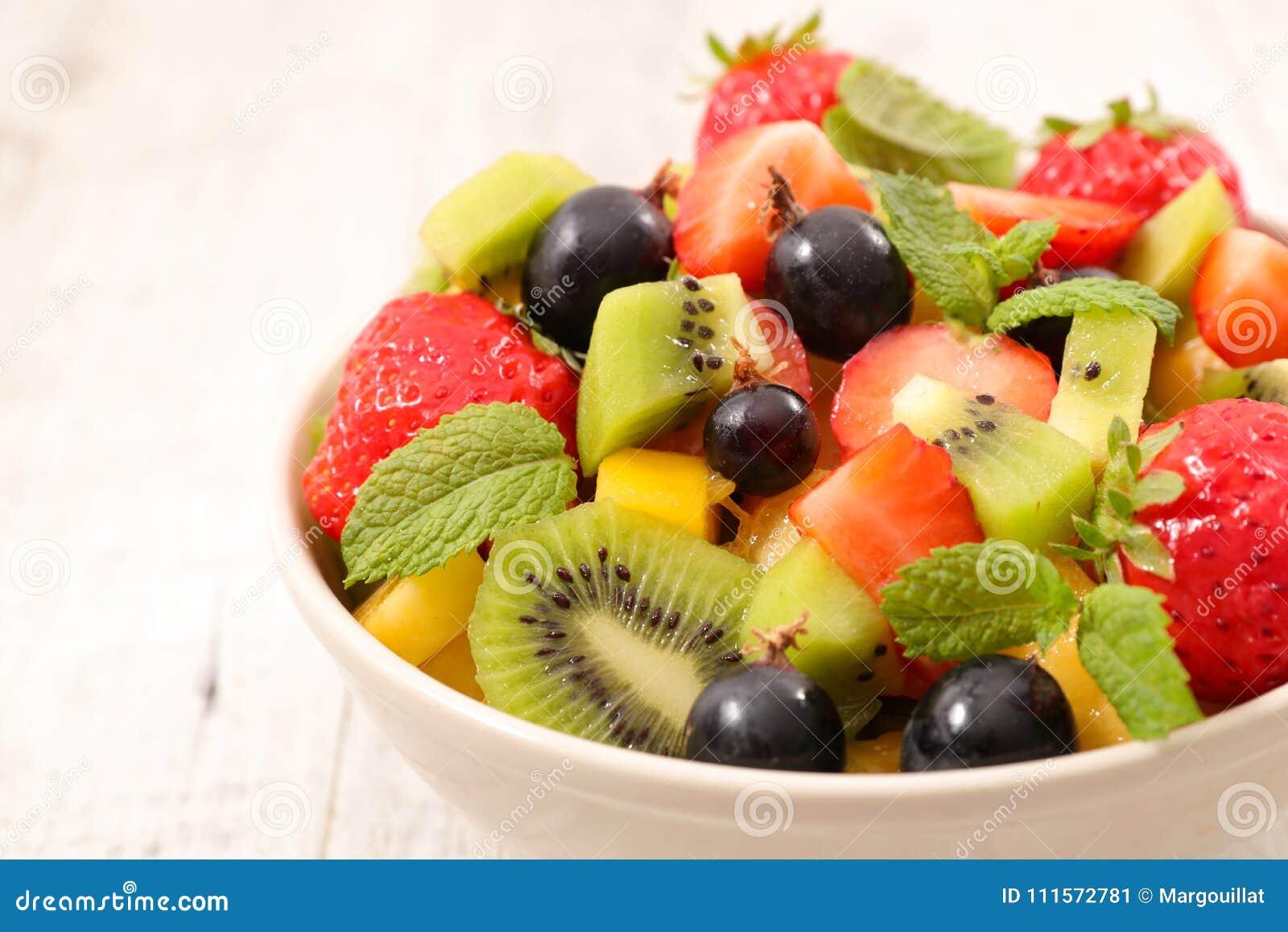 Cuenco de ensalada de fruta