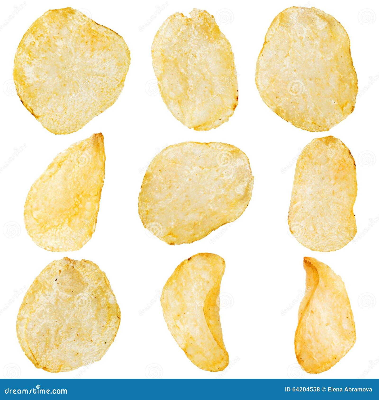 Cuenco de las patatas fritas aislado en blanco