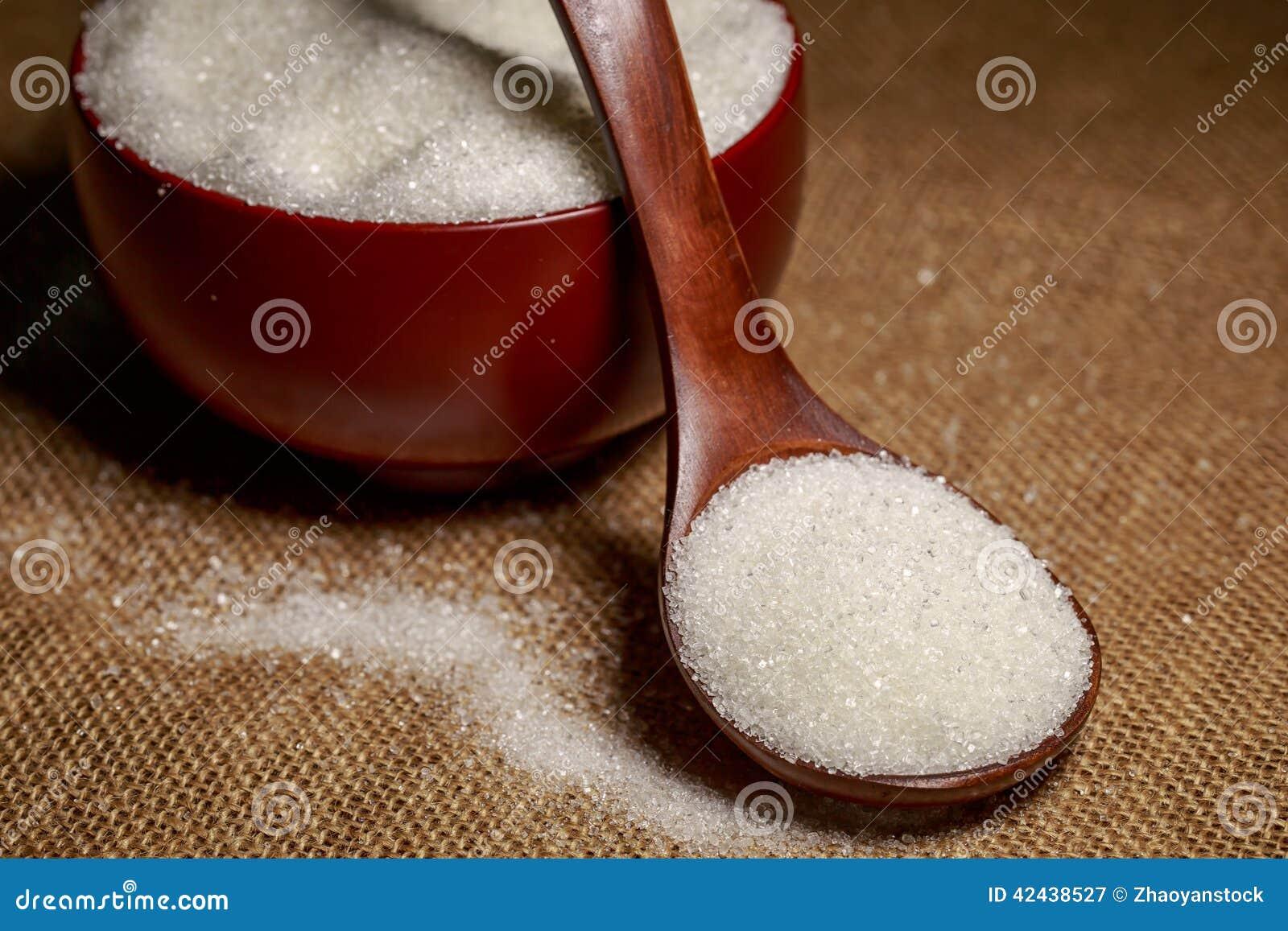 Cuenco lleno de azúcar-macro