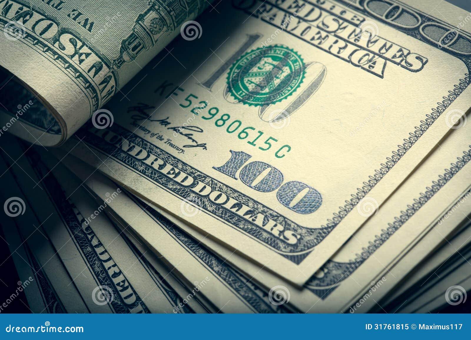 Cuentas del americano del dinero