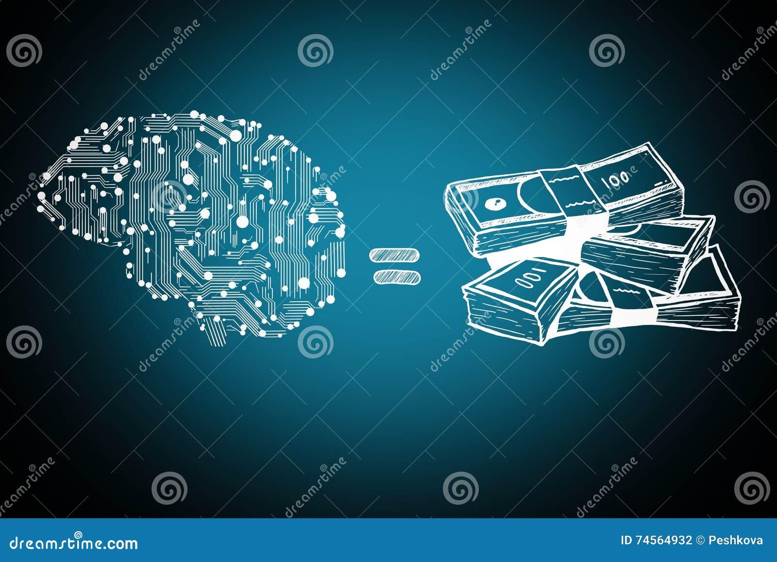 Cuentas del cerebro y de dinero