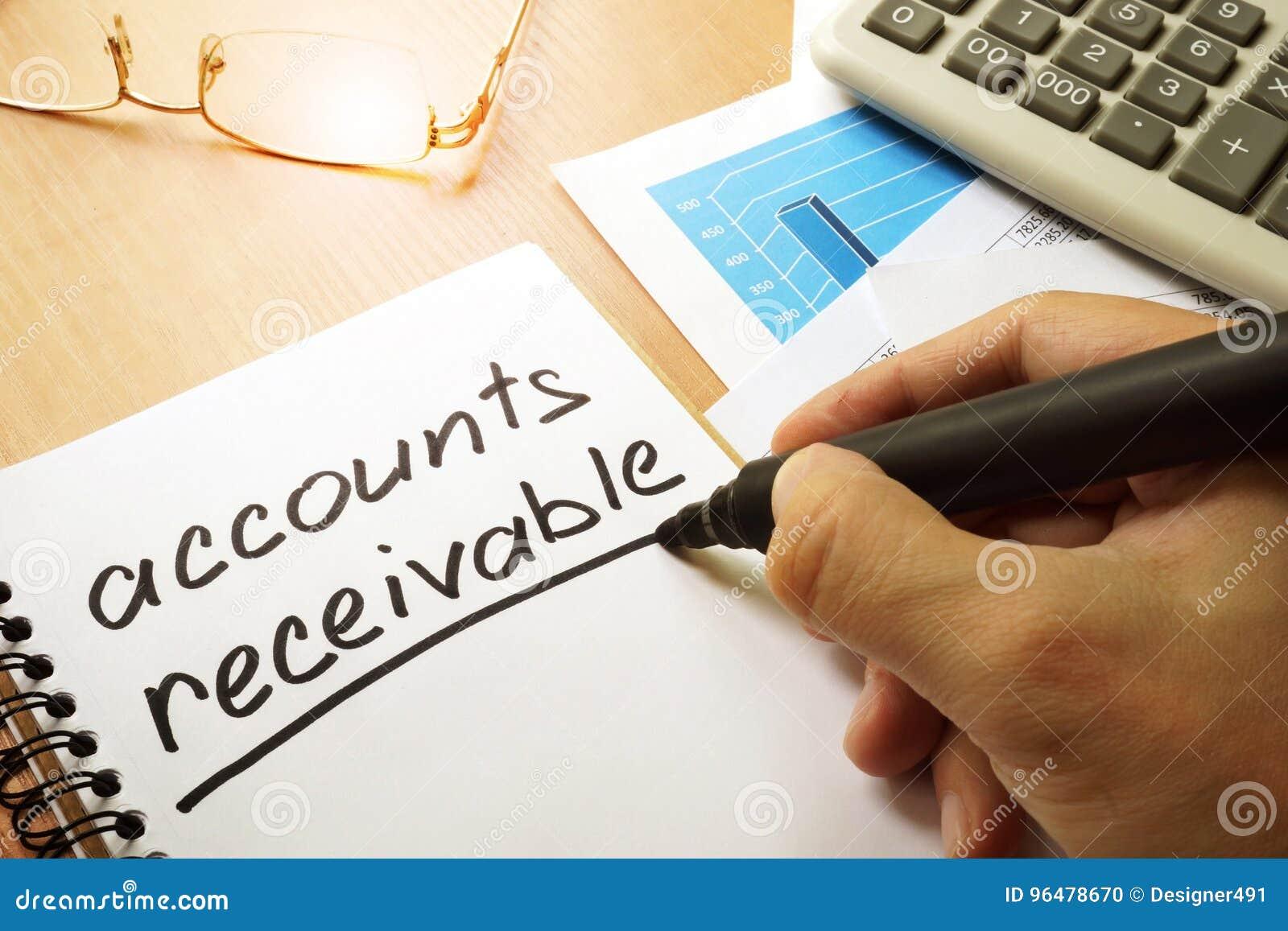 Cuentas por cobrar foto de archivo. Imagen de remuneración - 96478670