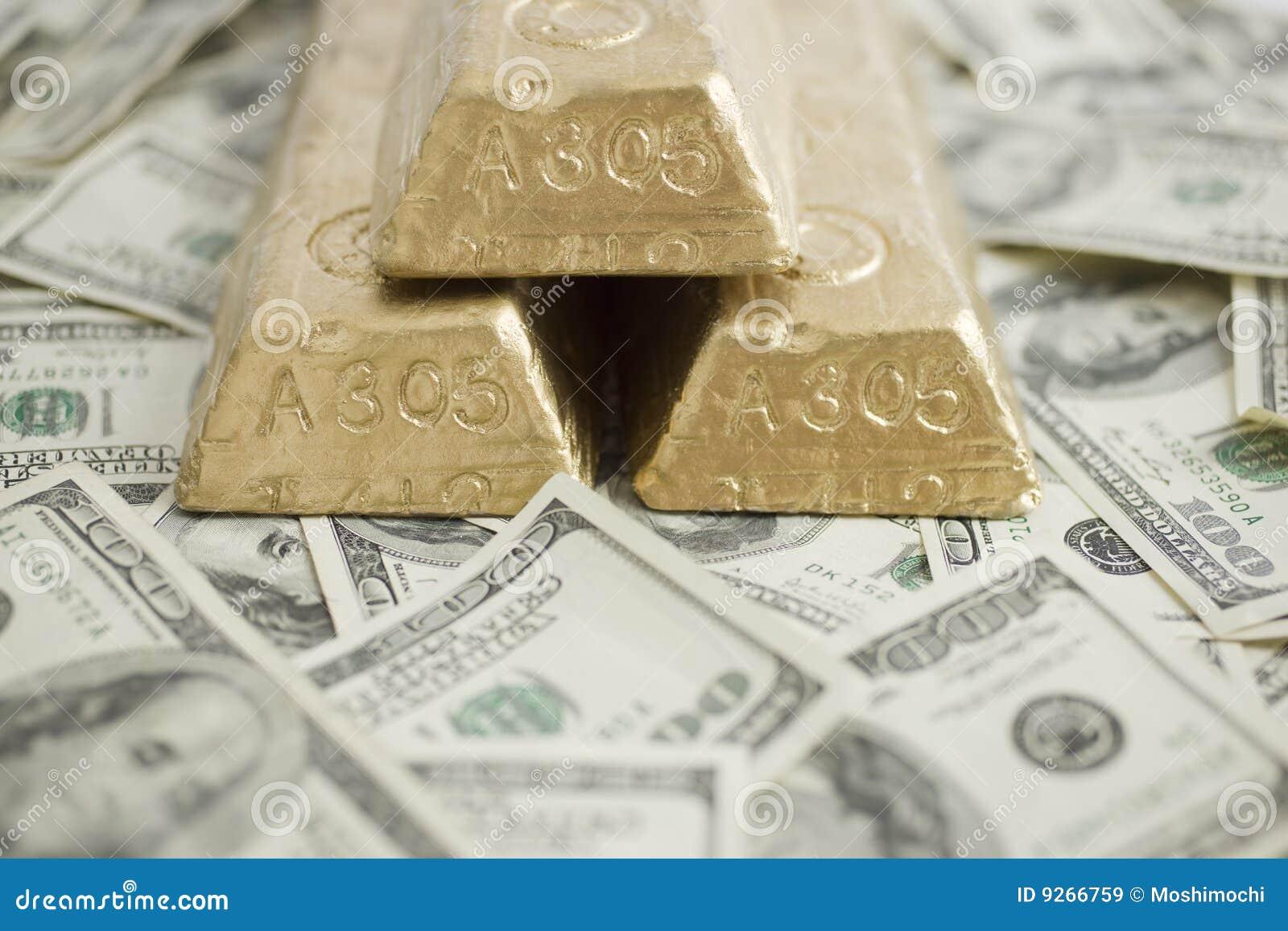 Cuentas y barras de oro