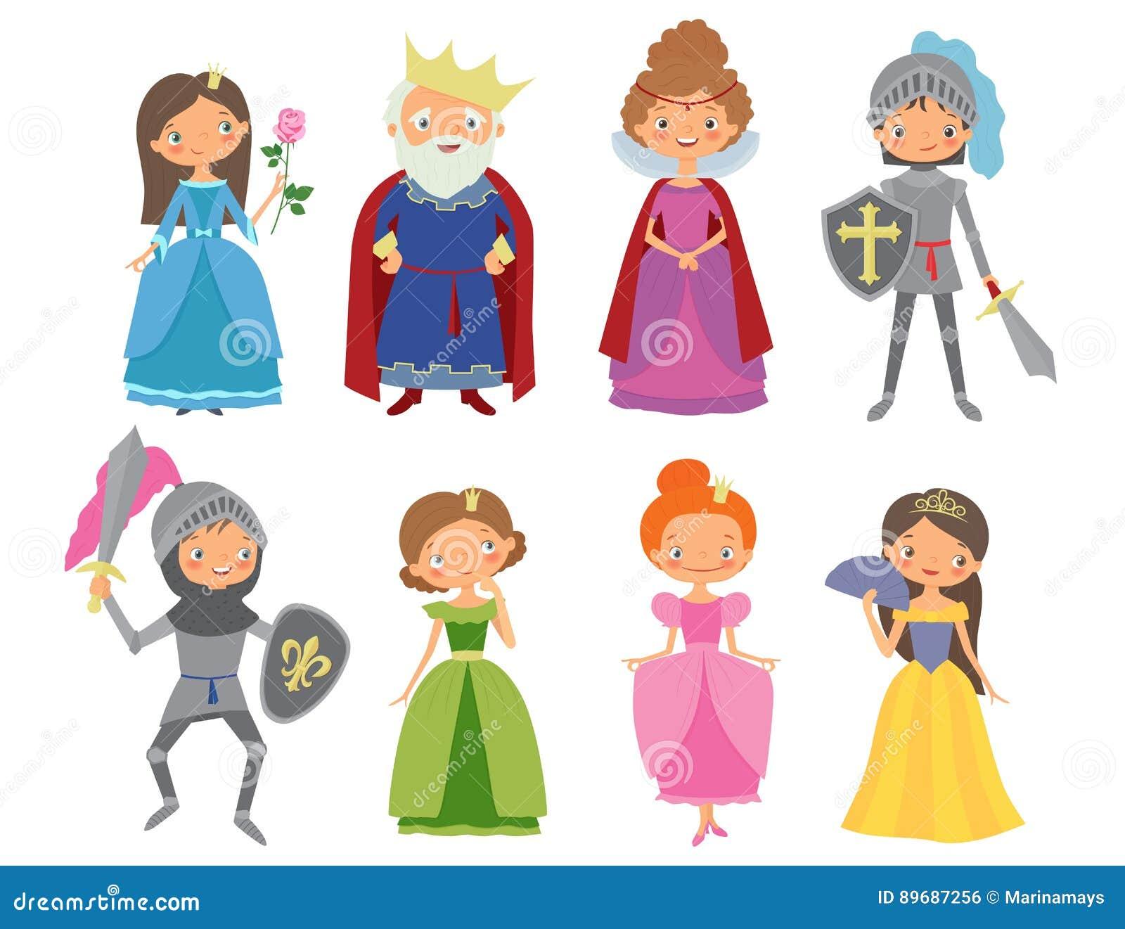 Cuento de hadas rey reina caballeros y princesas - Caballeros y princesas literas ...