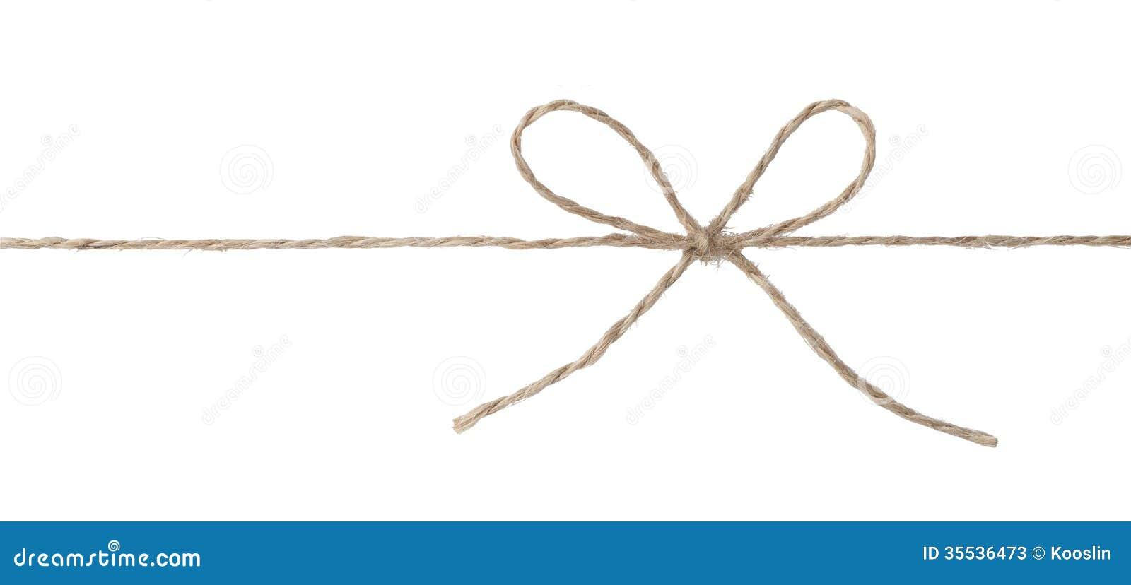 Cuerda con el nudo del arco