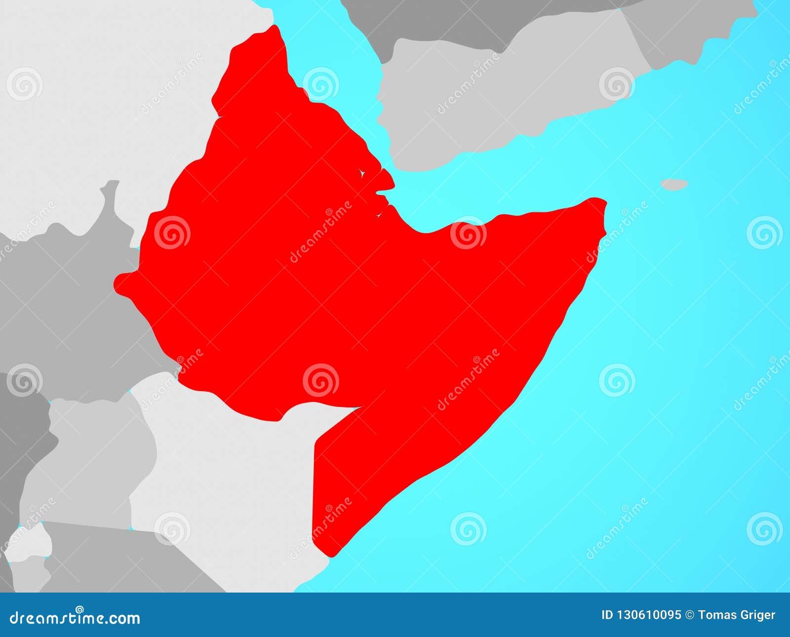 Cuerno De Africa Mapa.Cuerno De Africa En Mapa Stock De Ilustracion Ilustracion