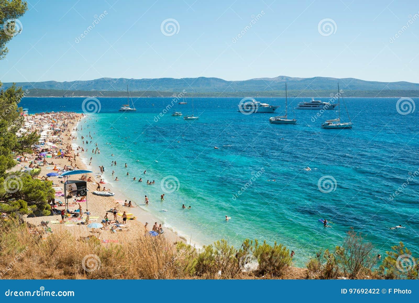 Cuerno De Oro En La Isla De Brac En Croacia Fotografia Editorial