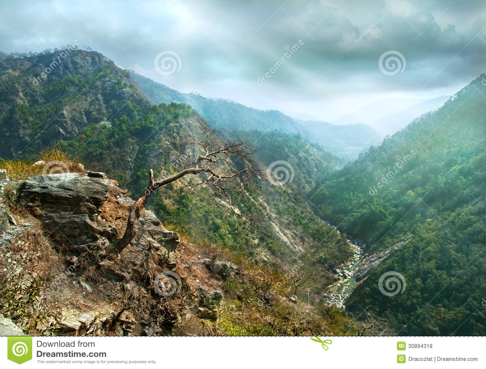 Cuestas del barranco de la montaña