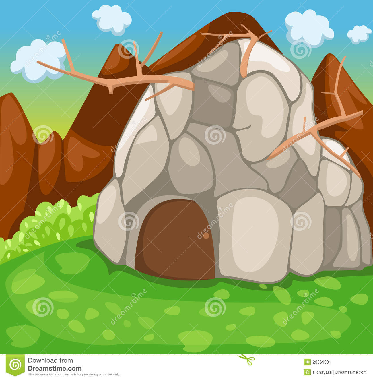 clipart house on rock - photo #13