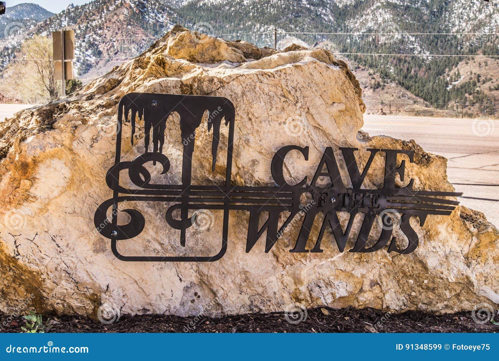 Cueva De Los Vientos Colorado Springs Imagen de archivo editorial ...