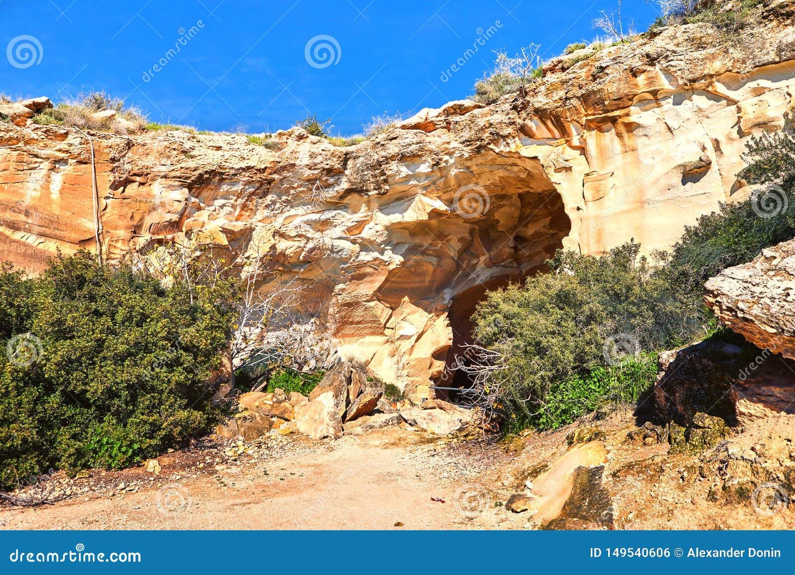 Cueva en Beit Guvrin Israel