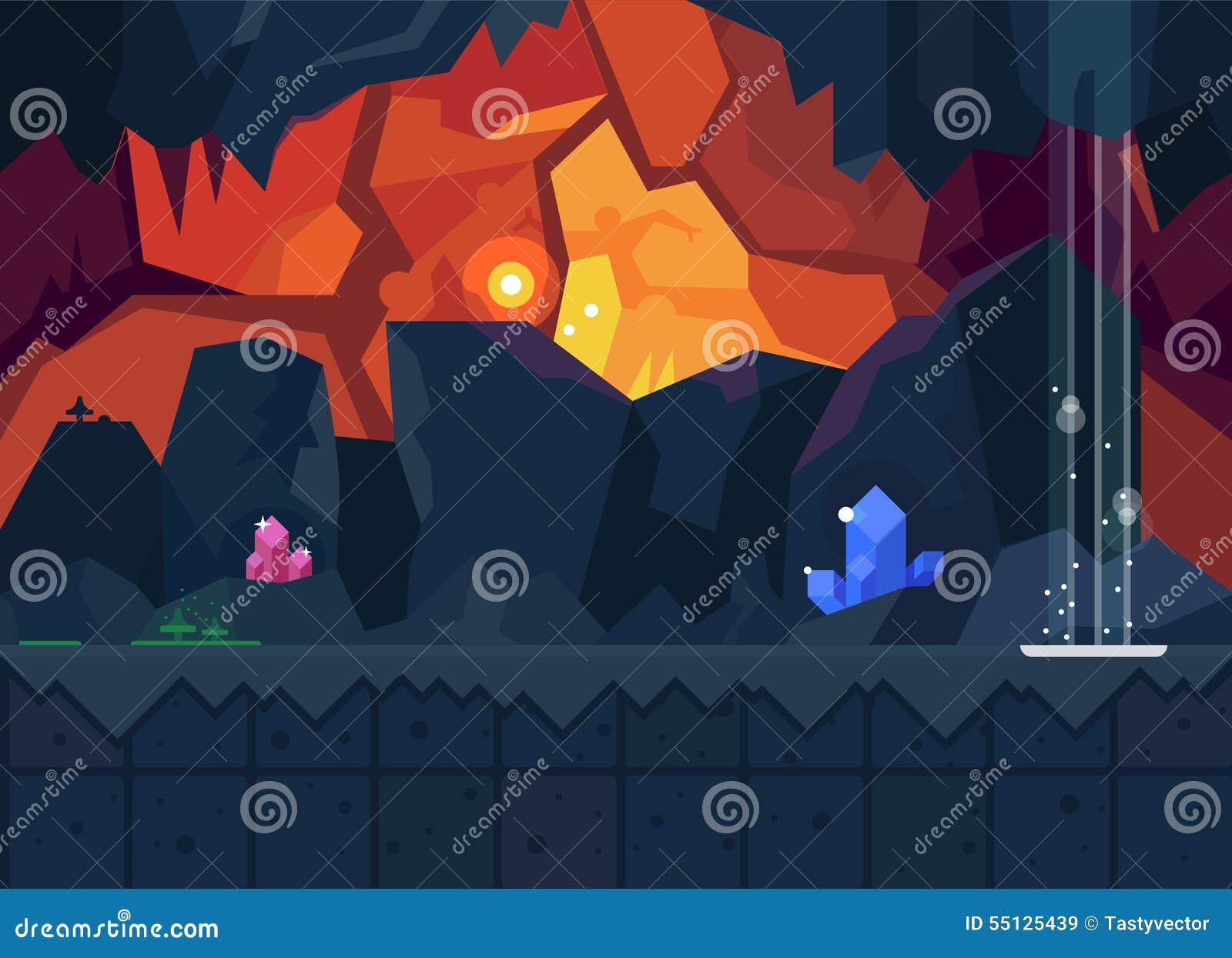 Cueva misteriosa con los cristales mágicos