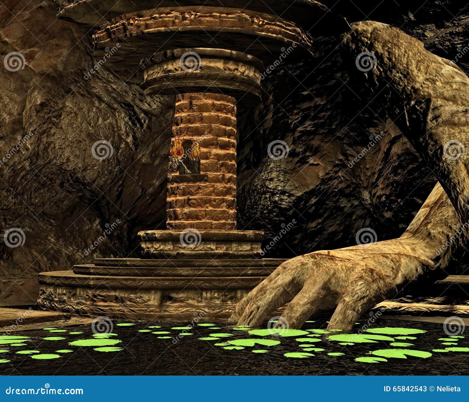 Cueva secreta, 3D CG