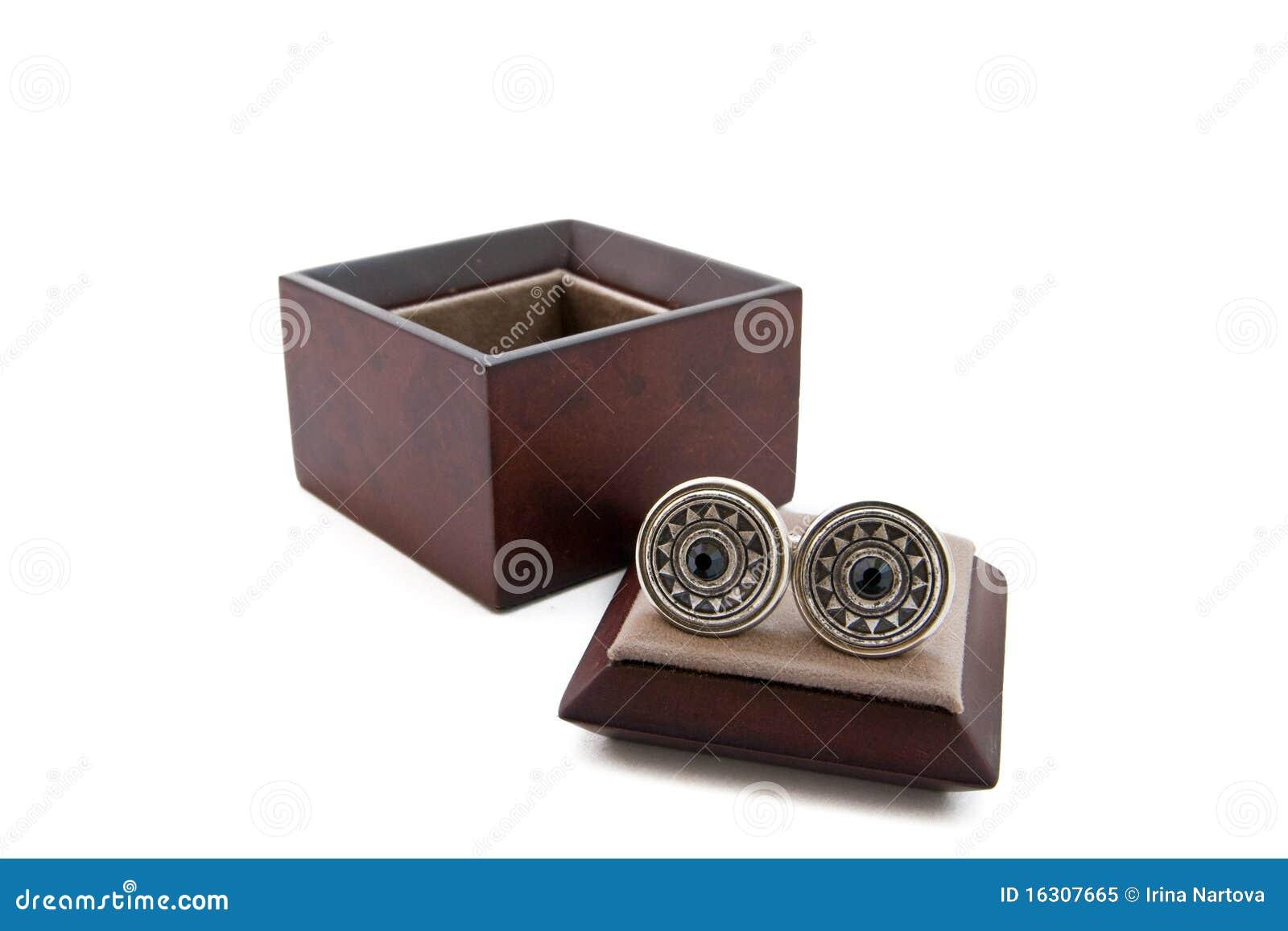 Cuff links in a box