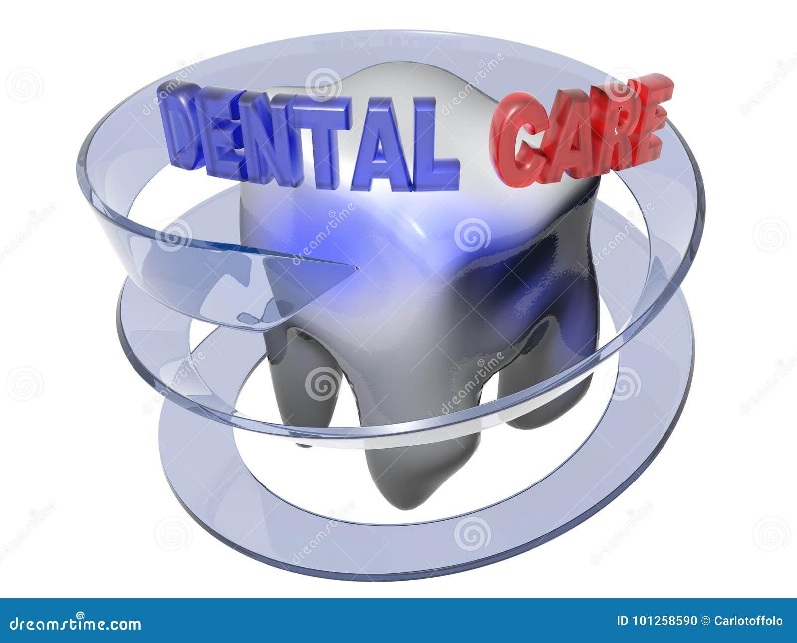 Cuidado dental - representación 3D