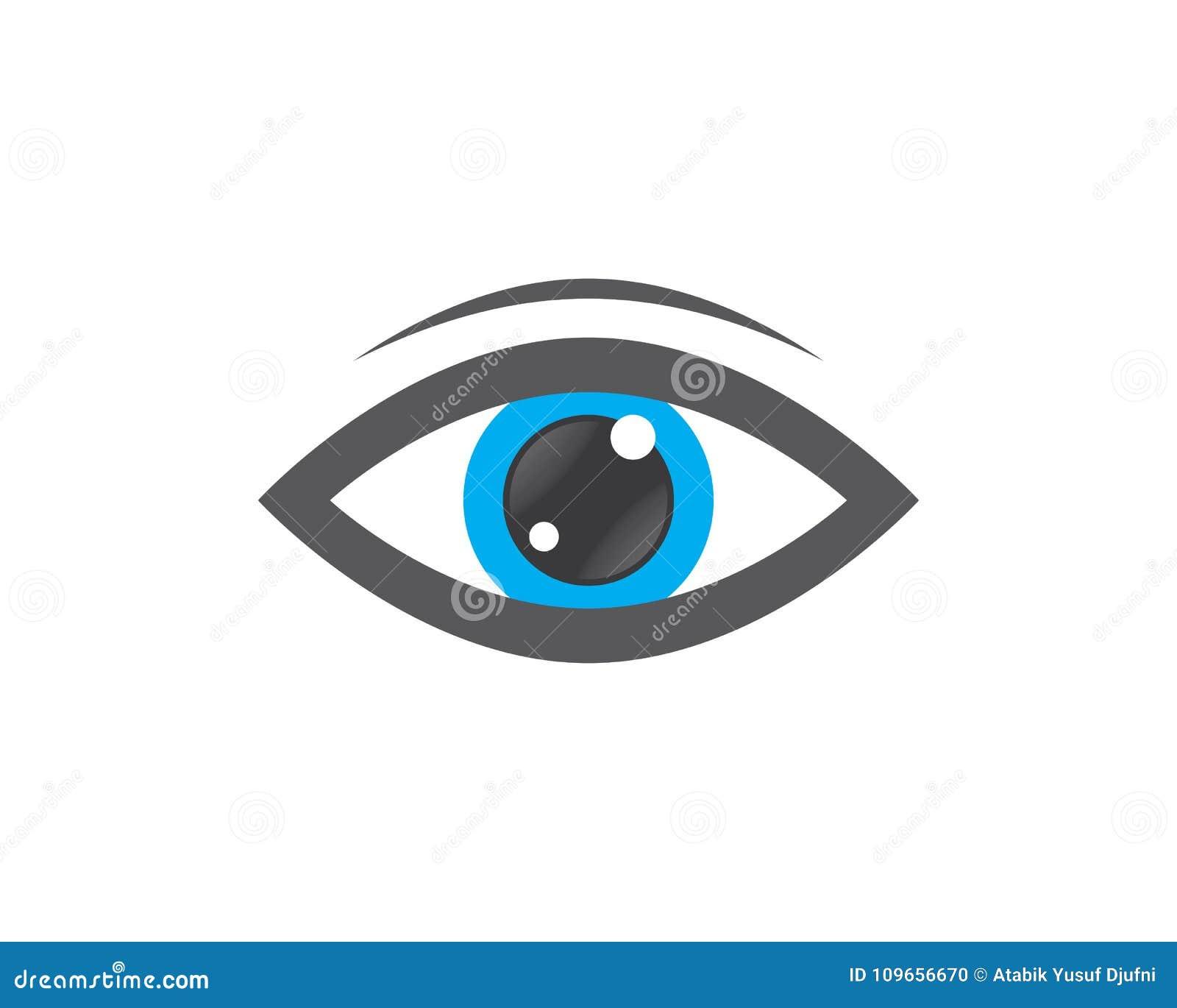 Cuidado Logo Template Del Ojo Ilustración del Vector - Ilustración ...
