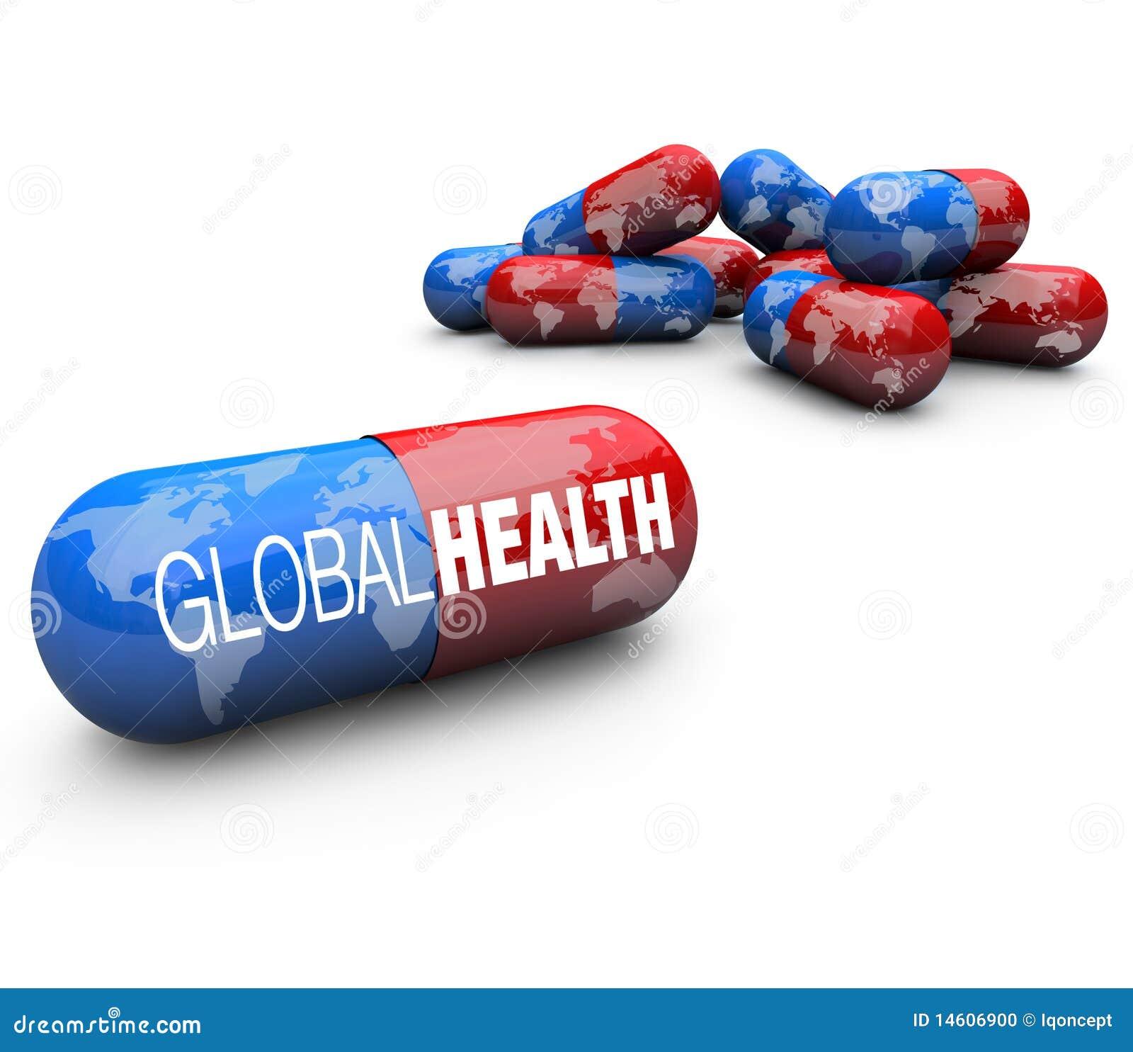 Cuidado médico global - píldoras de la cápsula