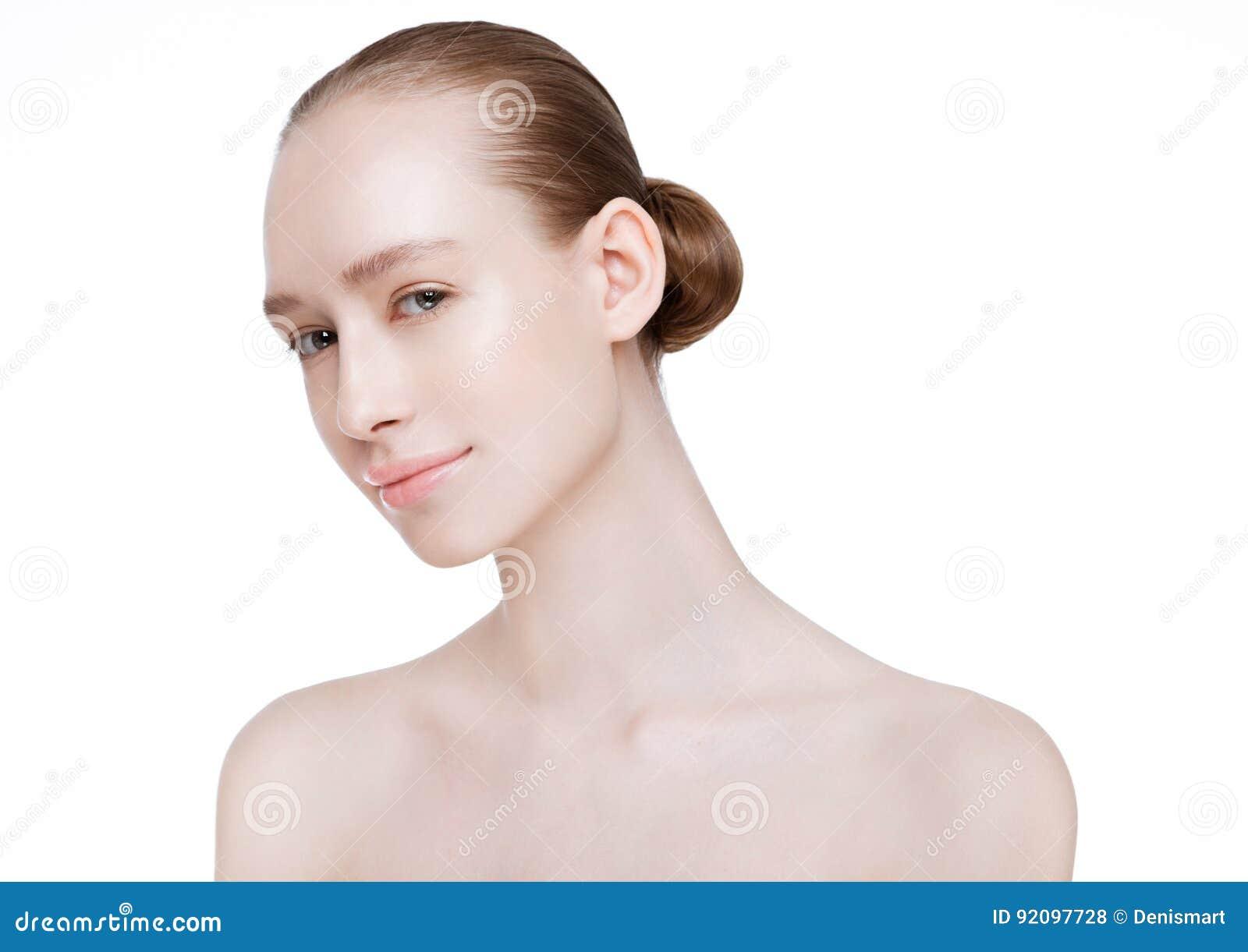 Cuidados com a pele naturais dos termas da composição da menina bonita da mulher