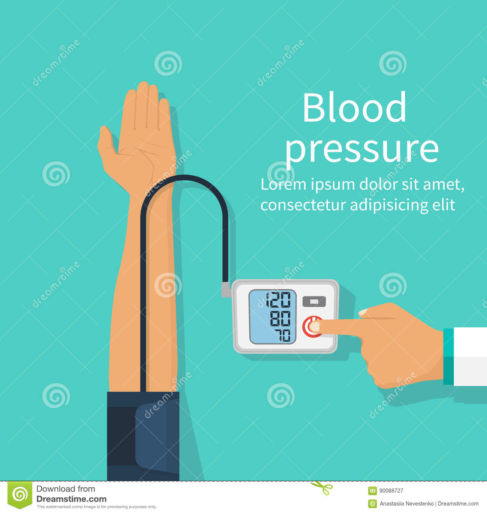 Cuide la presión arterial paciente de medición